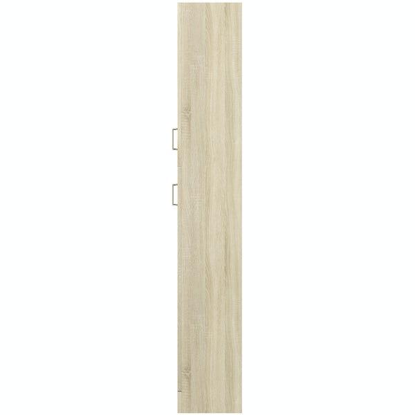 Eden oak tall storage unit 300mm