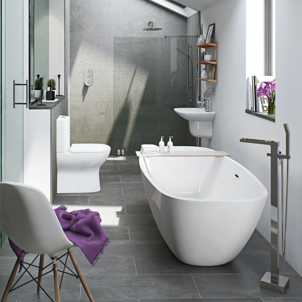 Mode Heath freestanding bath suite