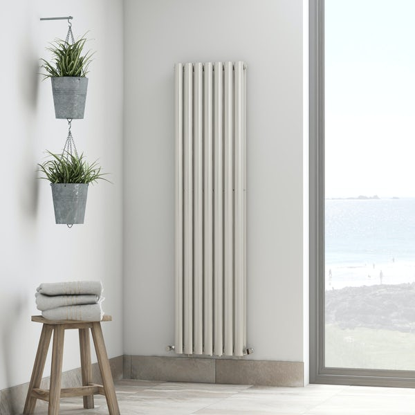 Tate white double vertical radiator 1600 x 406