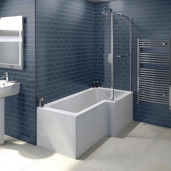 Boston Eco Shower Bath 1700 x 850 RH inc. Screen & Towel Rail