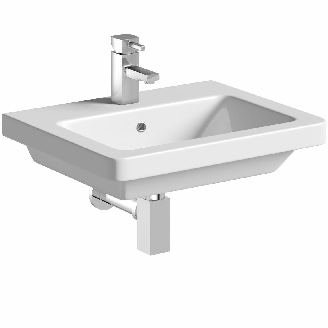 Mode Cooper 1 tap hole wall hung basin 550mm with waste