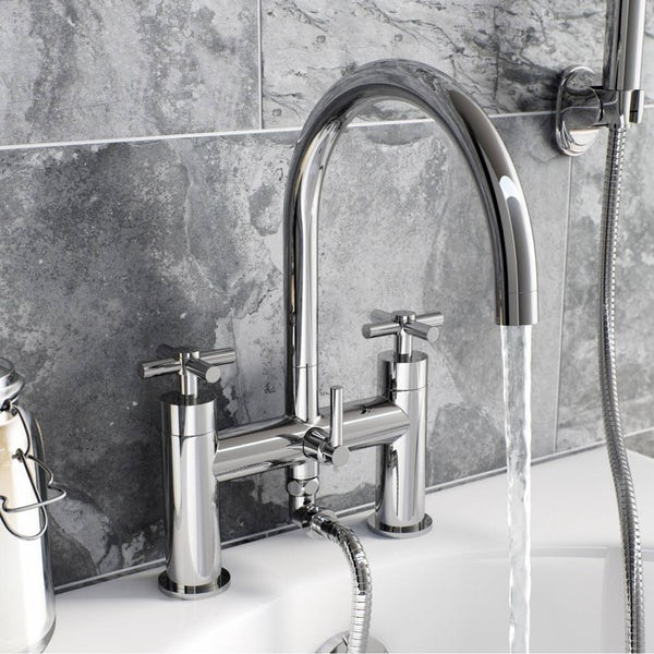 Tate Basin and Bath Shower Mixer Pack