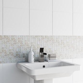 Mosaic pearl tile 300mm x 300mm - 1 sheet