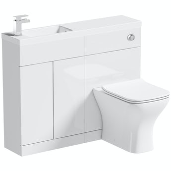 Mode MySpace Slim white combination with Compact square toilet