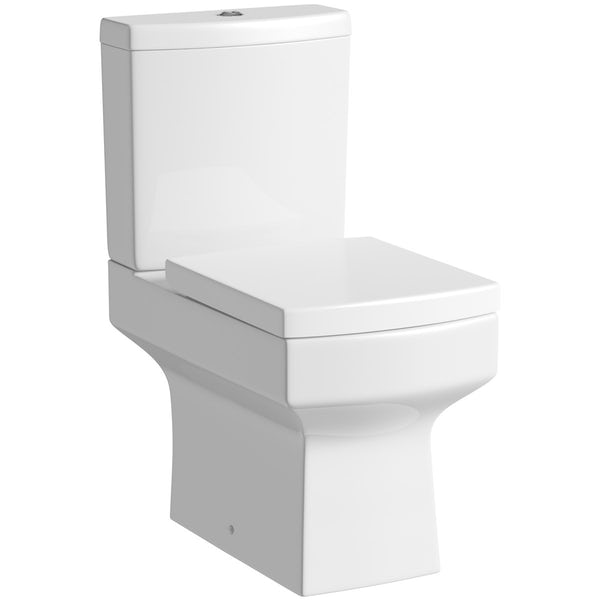Orchard Wye complete bathroom suite with enclosure, tray, shower and taps