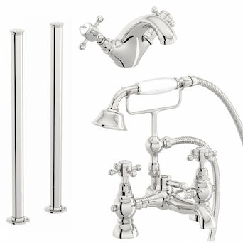 Coniston Basin and Bath Shower Mixer with Standpipe Pack
