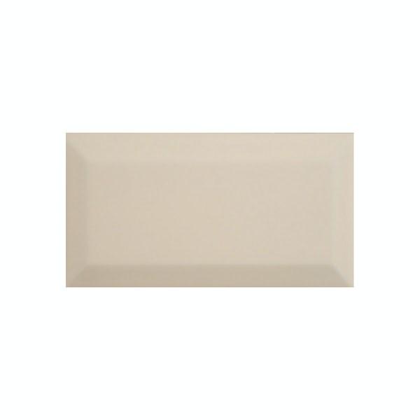 British Ceramic Tile Metro bevel cream gloss tile 100mm x 200mm