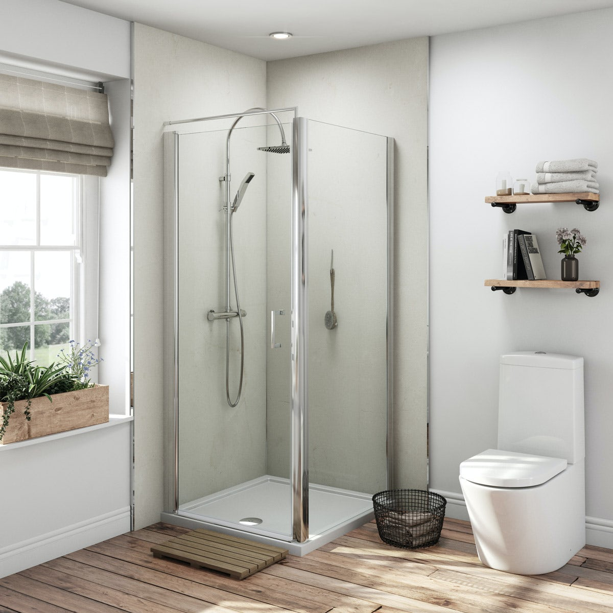 Multipanel Classic Marfil Cream Hydrolock shower wall panel