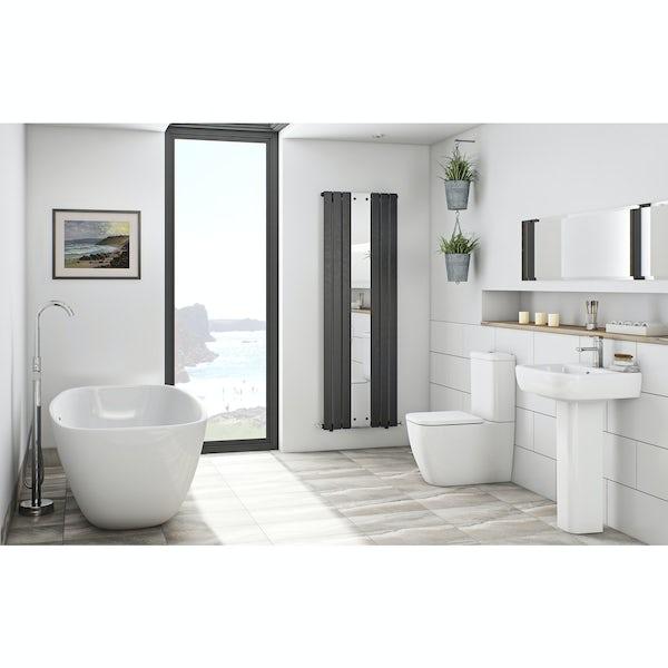 Mode Ellis white freestanding bath suite