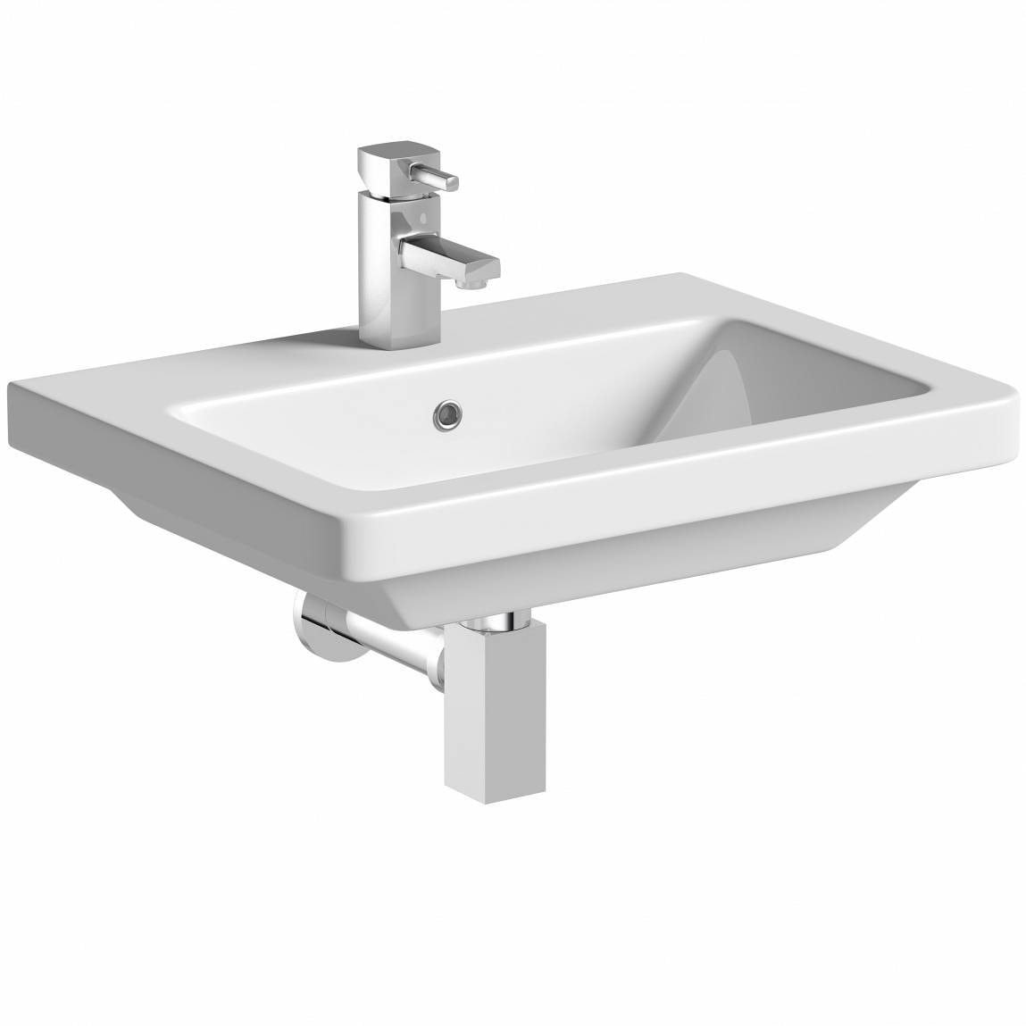 Mode Cooper 1 tap hole wall hung basin 600mm with waste