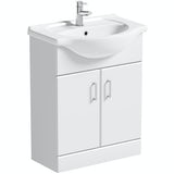Orchard Eden white vanity unit and basin 650mm