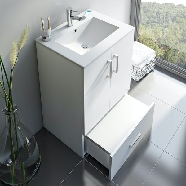 Orchard White family vanity unit and basin