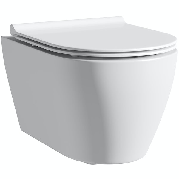 Mode Harrison wall hung toilet with soft close slim seat