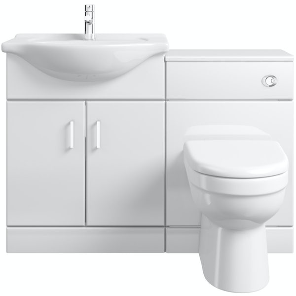 Eden white 1140 combination with Energy back to wall toilet