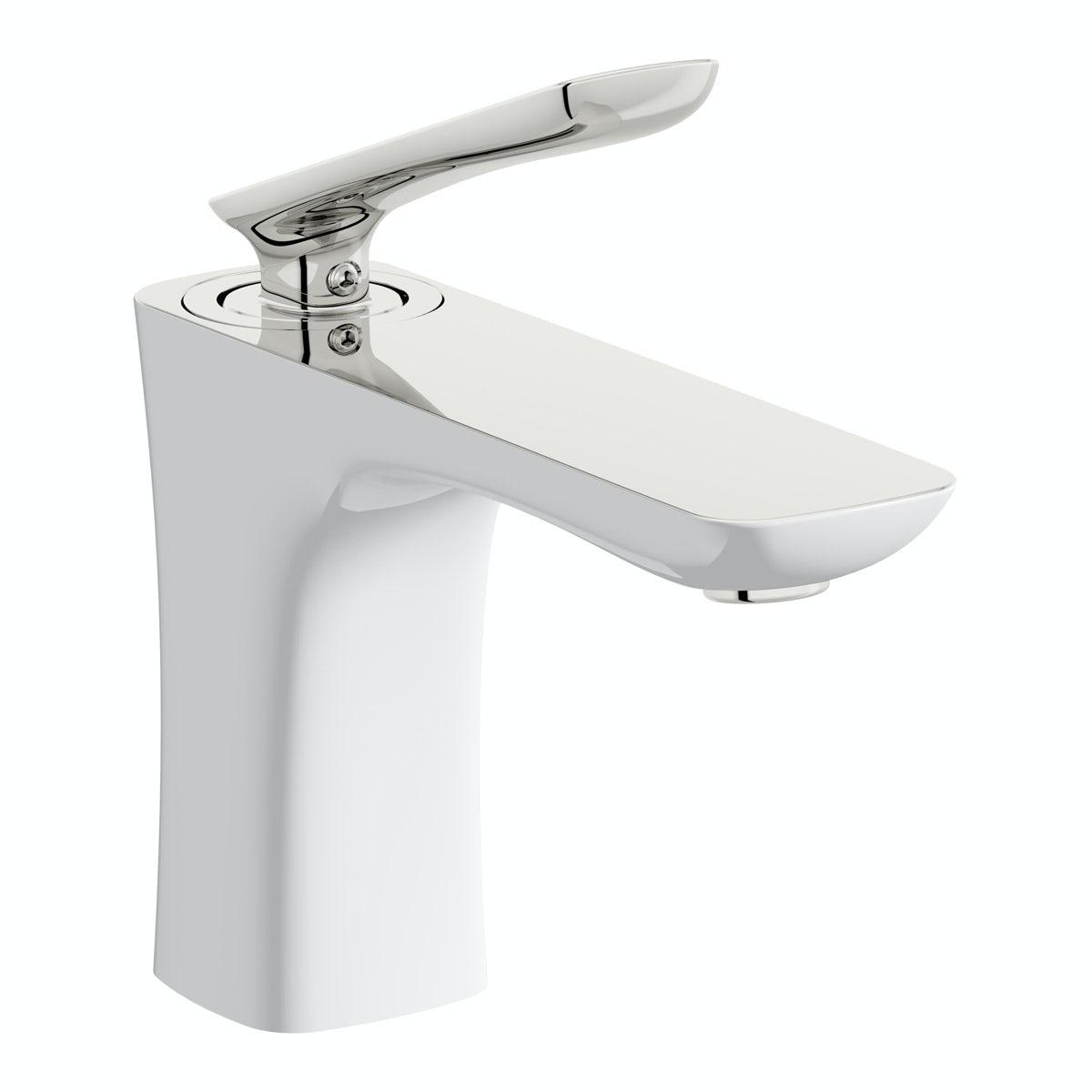 Mode Aalto basin mixer tap white