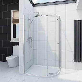 Infiniti 8mm One Door Offset Quadrant Shower Enclosure 1000 x 800 RH