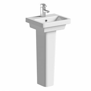 Cooper 1TH 400mm Basin & Pedestal