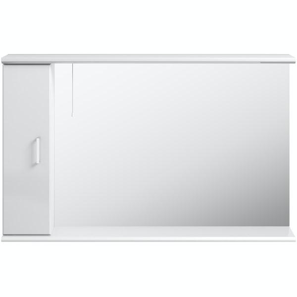 Eden white illuminated mirror 1200mm