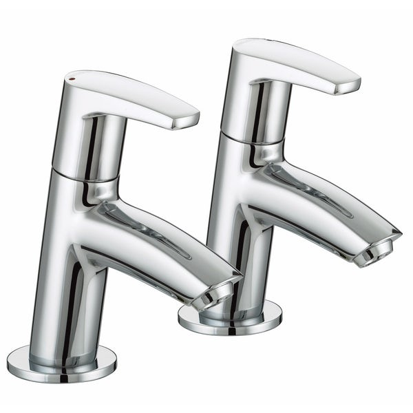Bristan Orta basin and bath tap pack