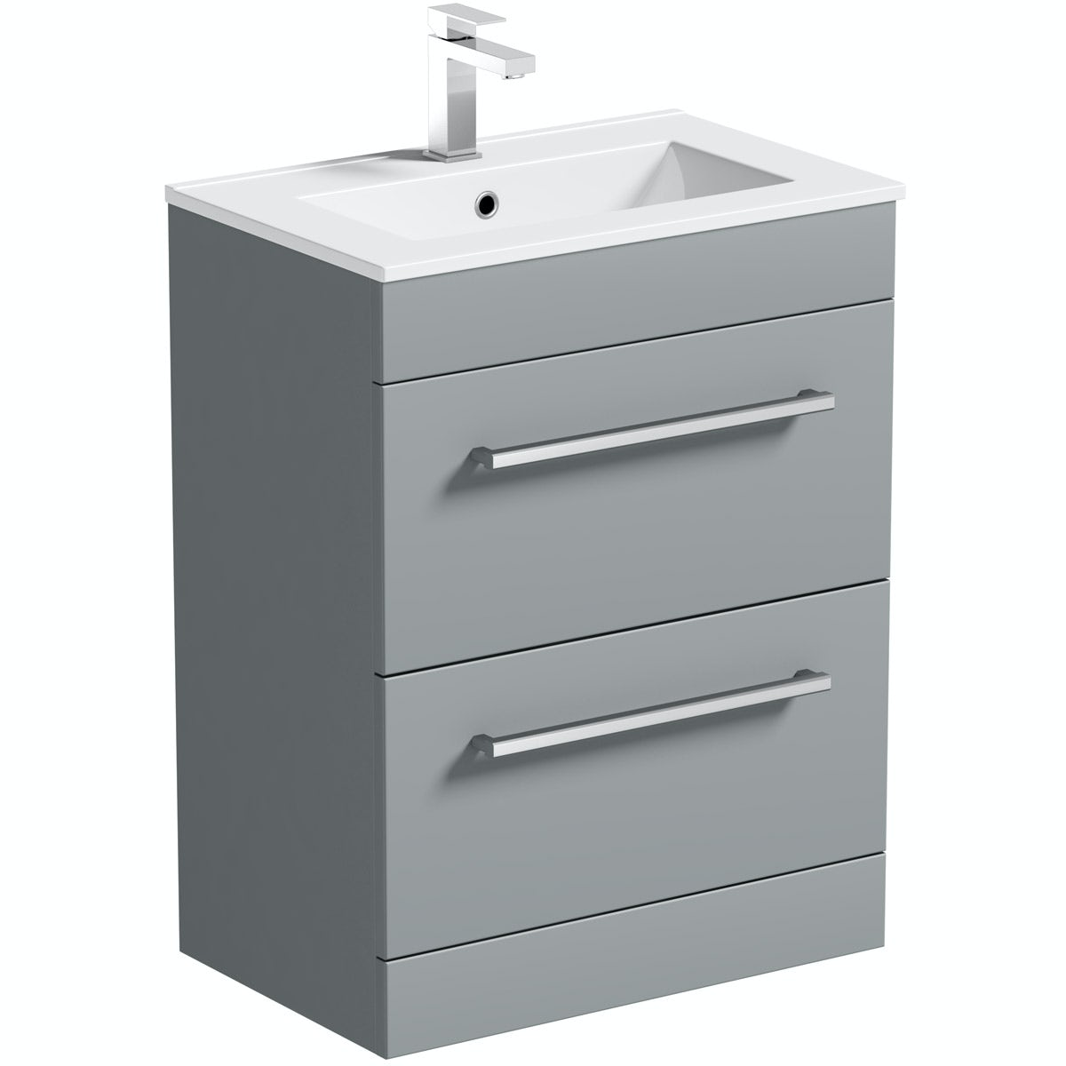 Orchard Derwent stone grey vanity drawer unit and basin 600mm