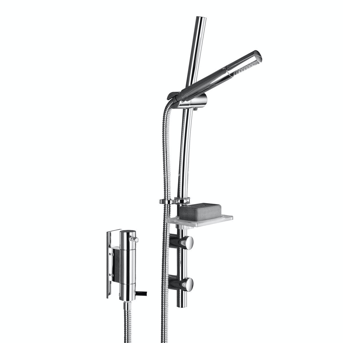 Bristan Prism vertical thermostatic shower valve with slider rail kit