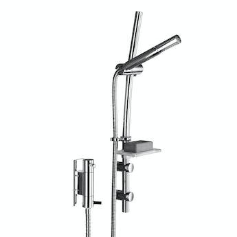 Bristan Prism vertical thermostatic shower valve with slider rail kit