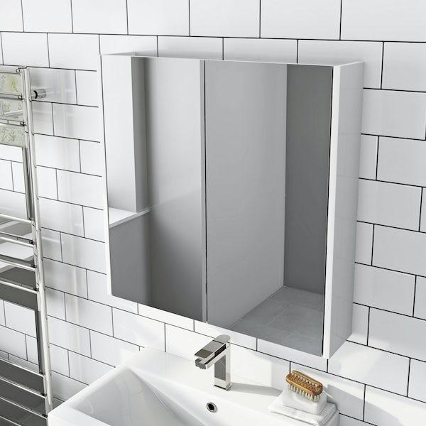 Mode Tate white mirror cabinet 650mm
