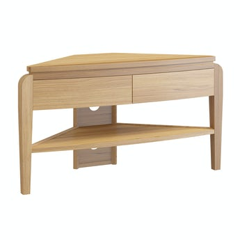 Reeves Samuel natural oak corner TV unit