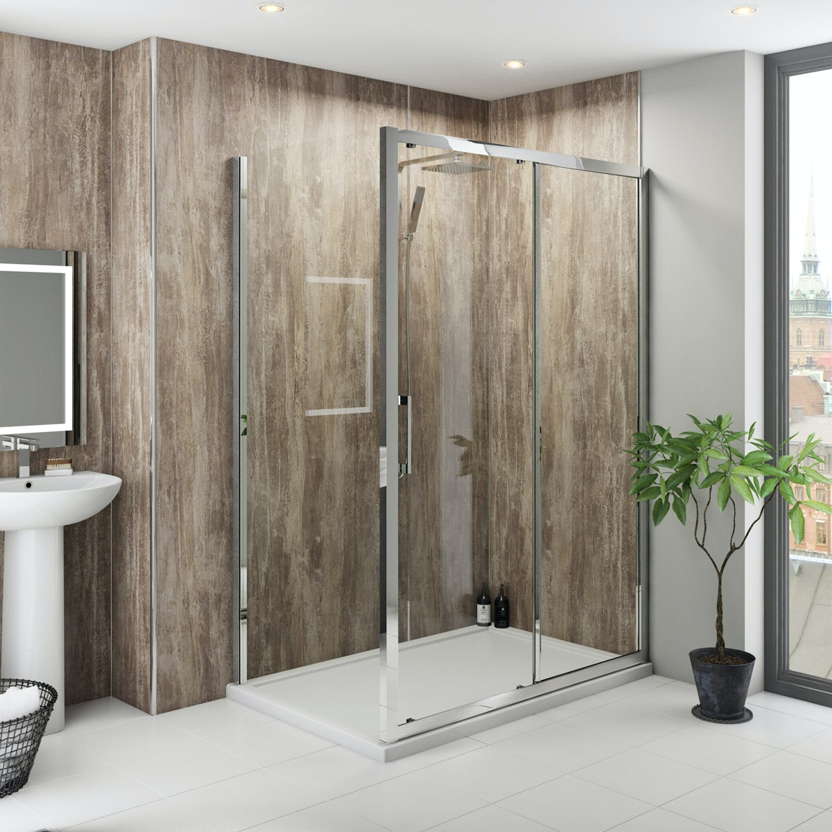 Multipanel Classic Monsoon unlipped shower wall panel 2400 x 1200
