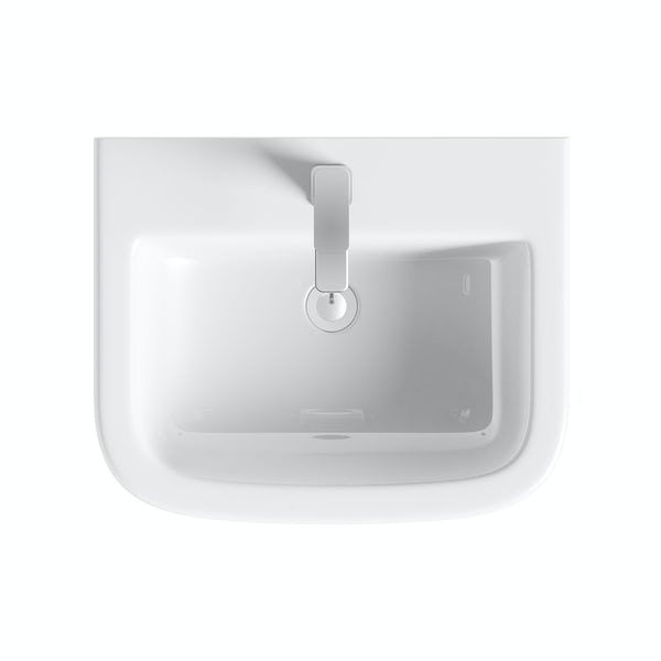 Mode Ellis full pedestal basin 560mm with waste