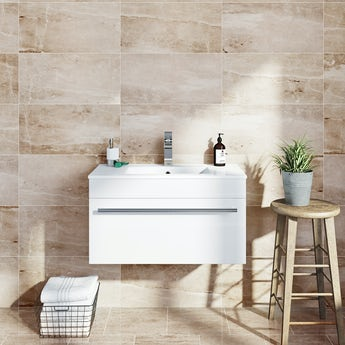 Earth marble effect toffee matt tile 298mm x 498mm