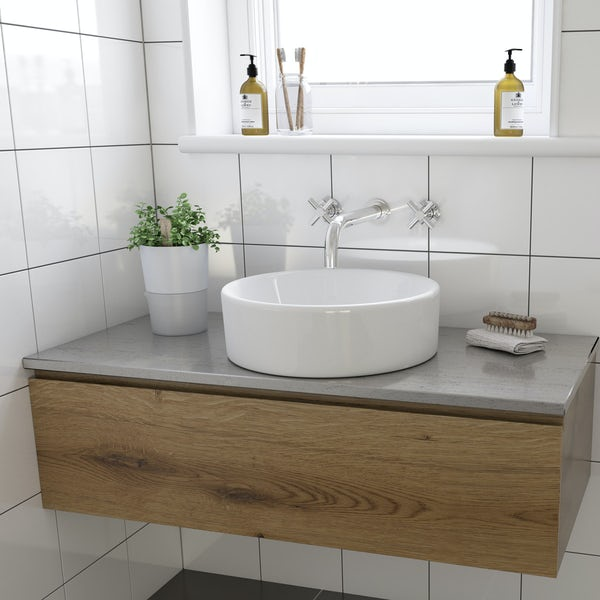 Calhoun counter top basin with waste