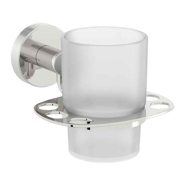 Orchard Eden round master bathroom 6 piece accessory set
