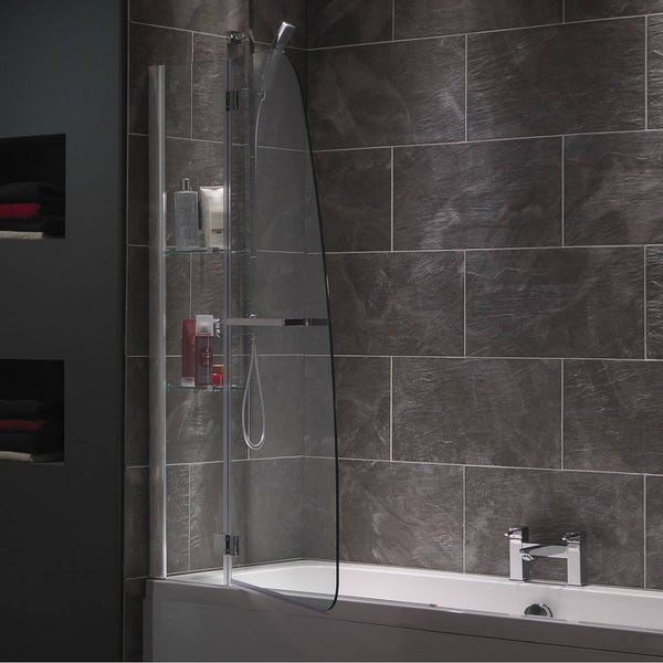 Mode luxury 8mm hinged shower bath screen with glass ...