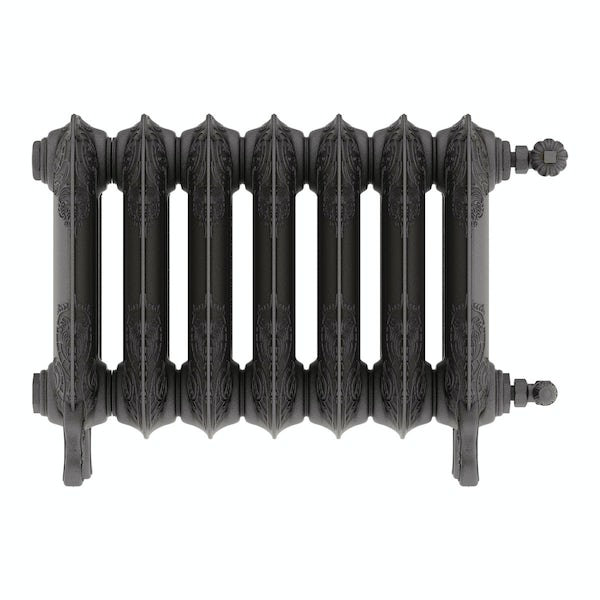 Oxford raw metal freestanding cast iron radiator 470 x 606