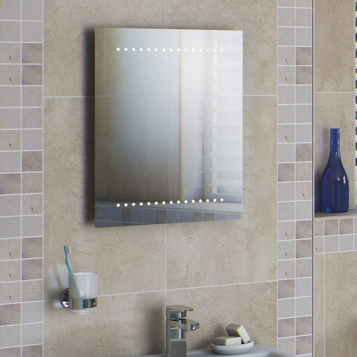 Orion Battery Powered Led Bathroom Mirror 500 X 390