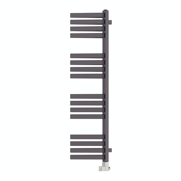 Outcorner modern grey heated towel rail 1005 x 300
