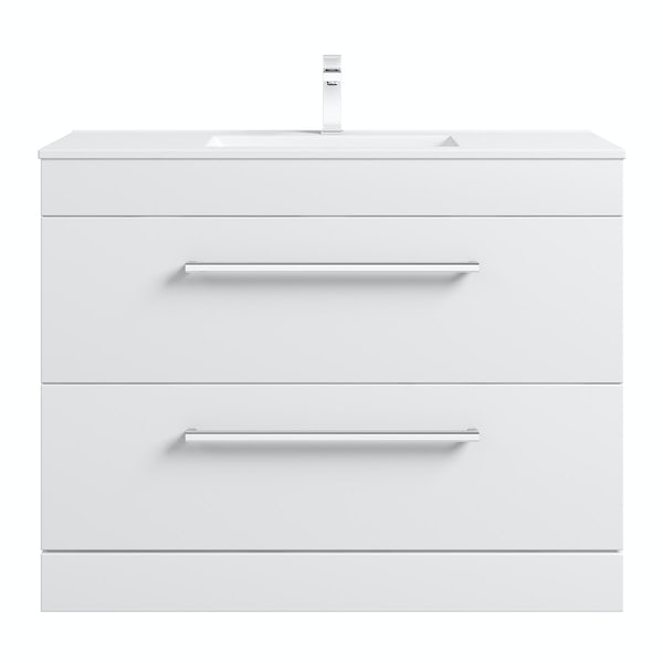 Derwent vanity drawer unit and basin 1000mm