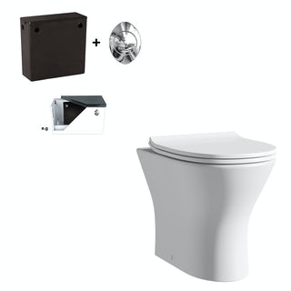 Derwent Square back to wall toilet with soft close seat and concealed cistern
