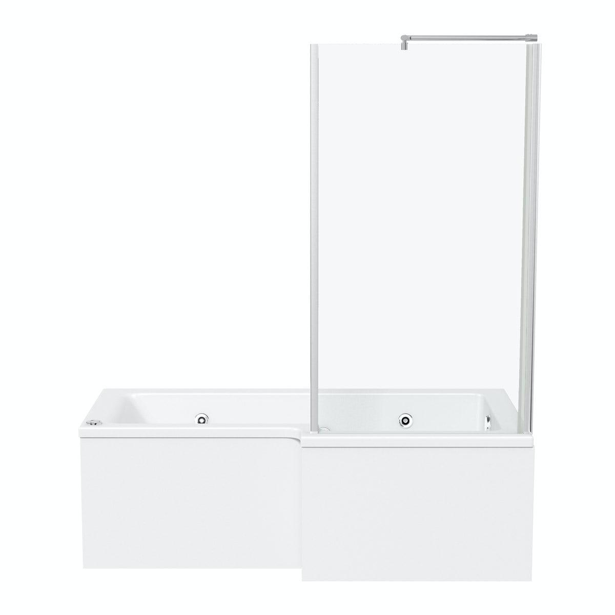 L Shaped Whirlpool Shower Bath L Shaped Right Handed 12 Jet Whirlpool Shower Bath With