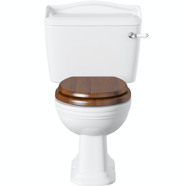 Belle de Louvain Charlet close coupled toilet and full pedestal suite with chrome fittings