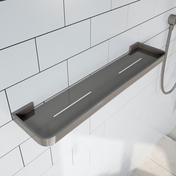 Mode Spencer brushed nickel bathroom shelf