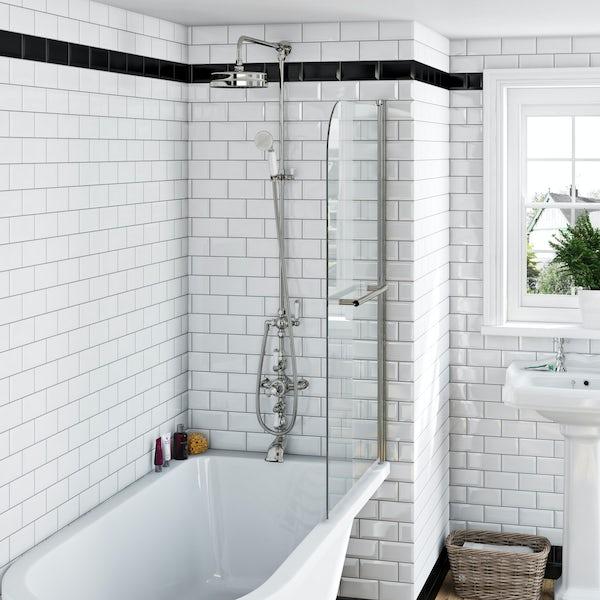 Winchester rain can dual valve riser shower system
