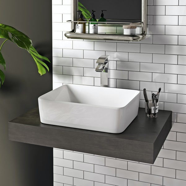 Mode Ellis counter top basin with waste