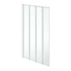 Simplicity folding 4 panel straight shower bath screen white