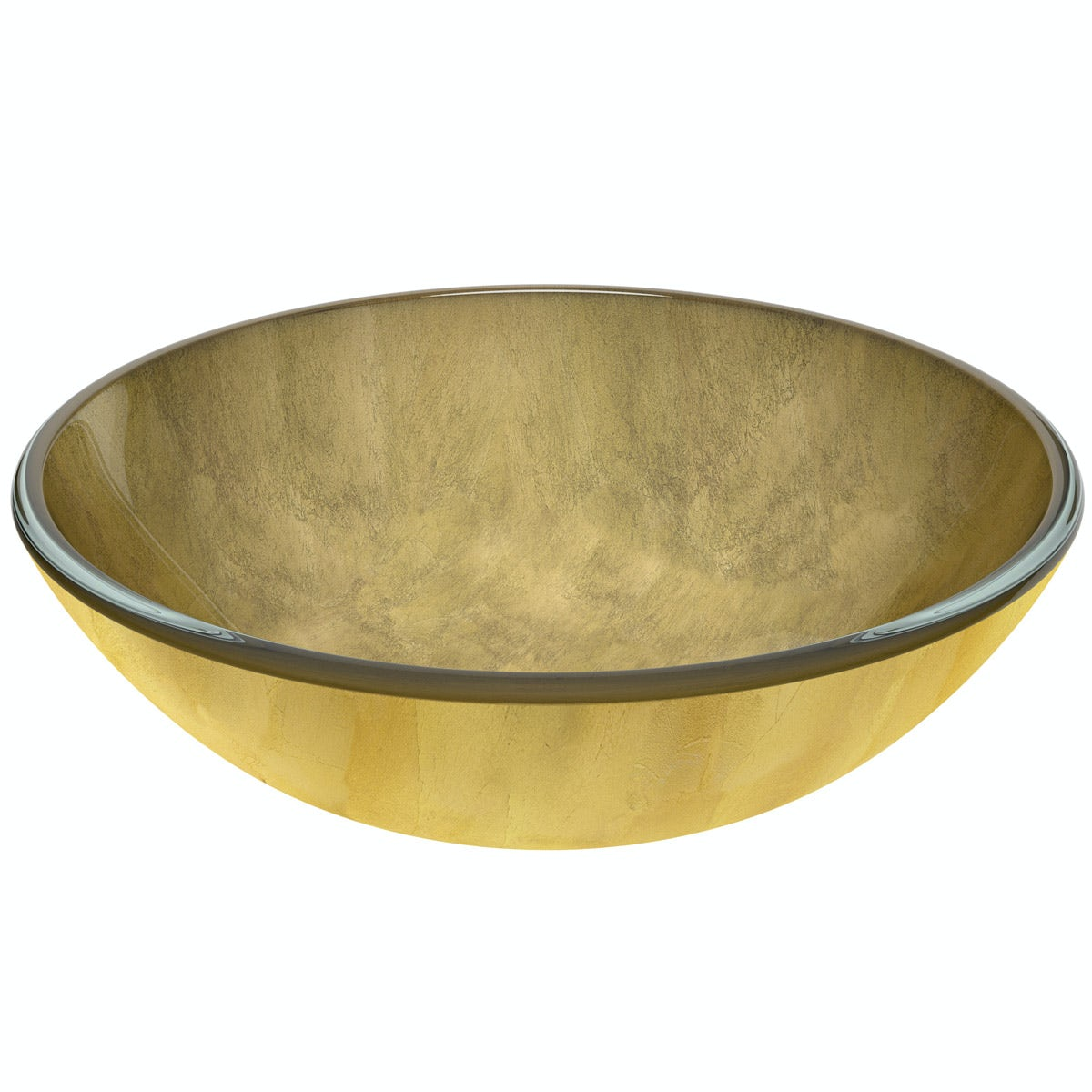 Mode Mackintosh gold foil glass countertop basin with waste