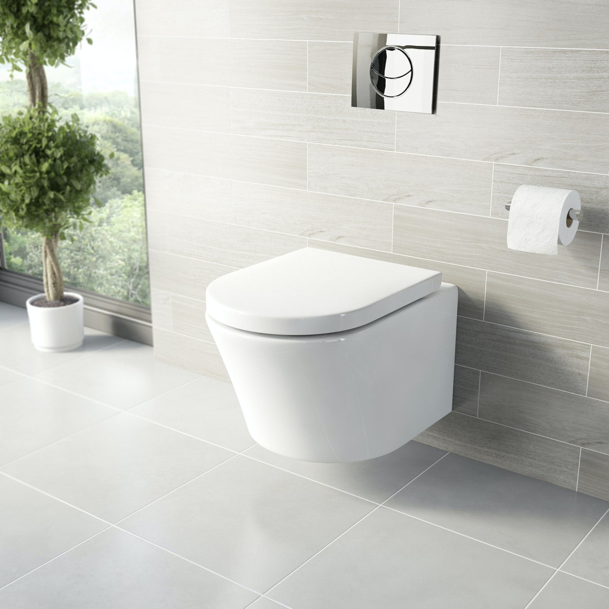 arte wall hung toilet inc seat - Wall Hung Toilet