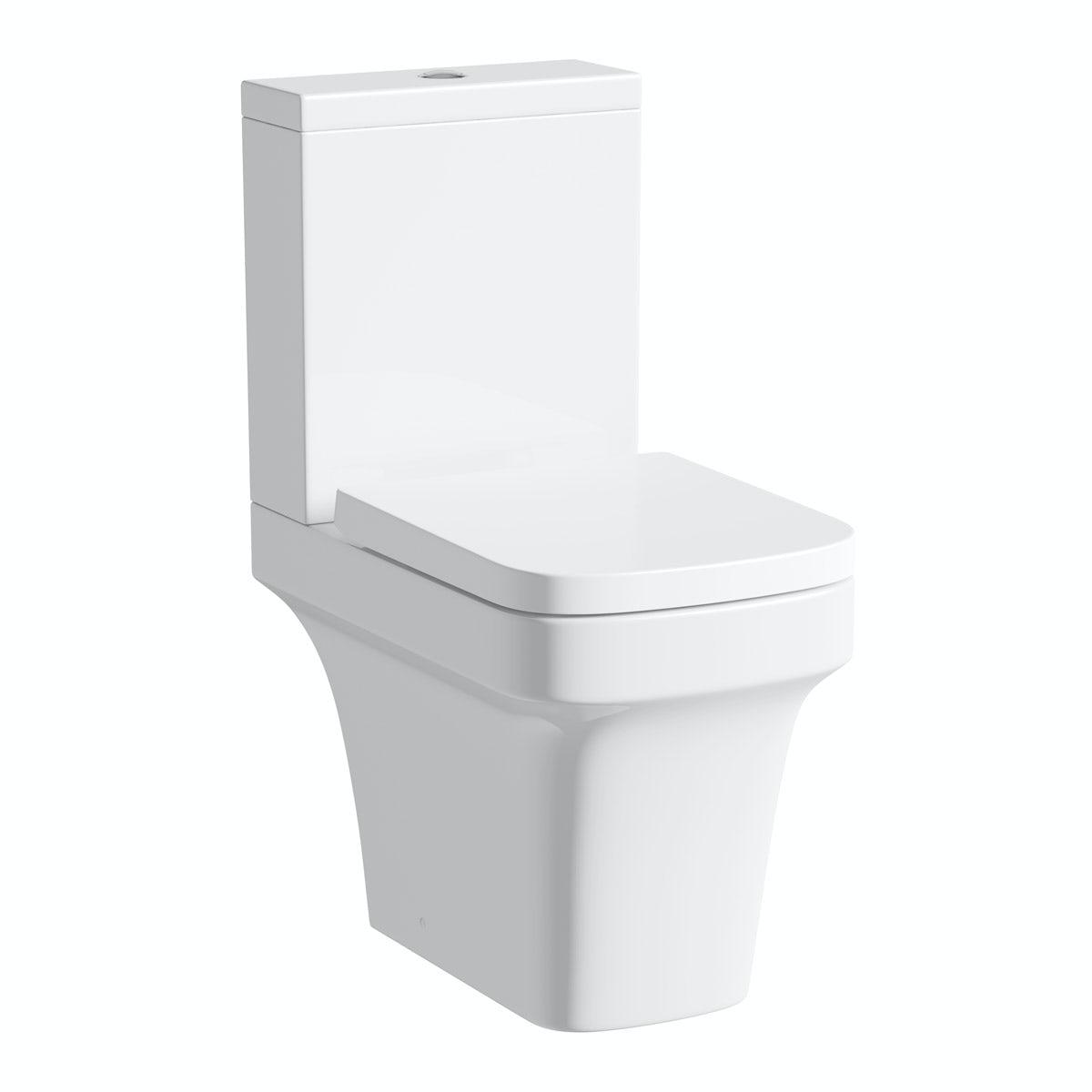 Carter close coupled toilet inc soft close seat