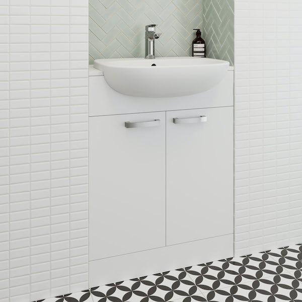 Ideal Standard Tesi white vanity door unit and basin 650mm