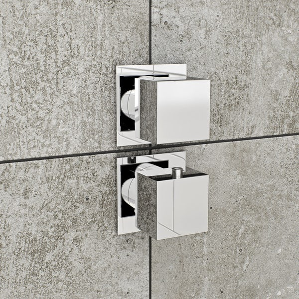 Mode Cooper square concealed twin valve with diverter offer pack